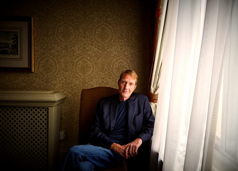 Lee Child (photographed at the Randolph Hotel, Oxford)