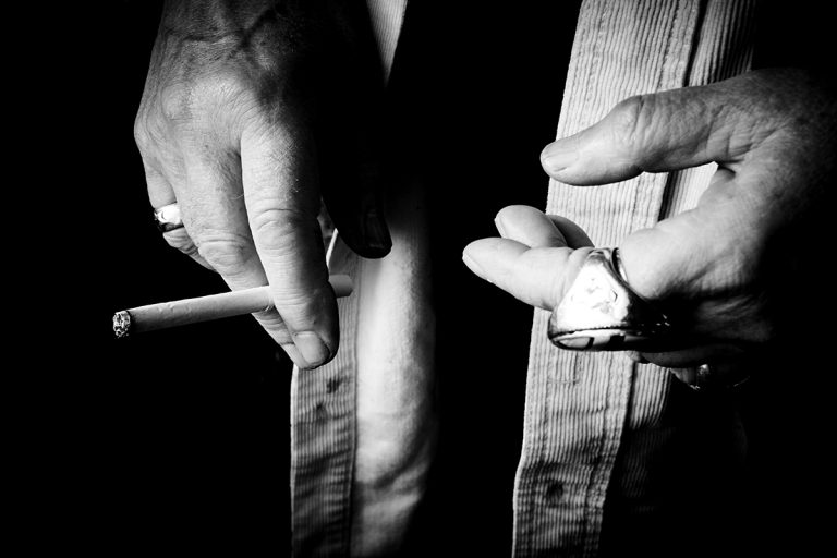 The hands of Maggi Hambling