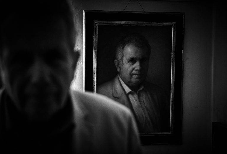 Martin Bell at his home