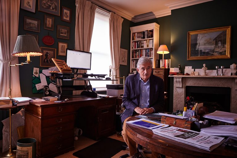 Sir Antony Beevor (image acquired by the National Portrait Gallery)