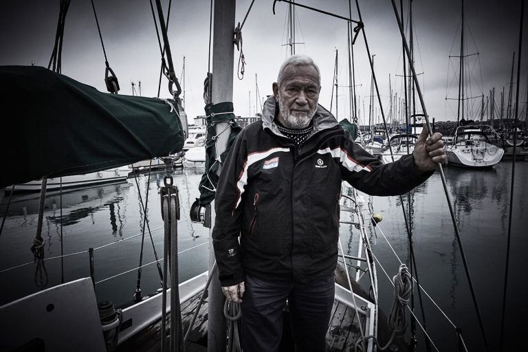 Sir Robin Knox-Johnston (photographed on board the Suhaili)
