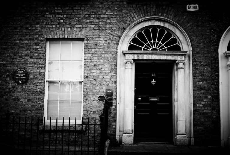 82 Merrion Square, where the poet W.B Yeats lived from 1922 until 1928