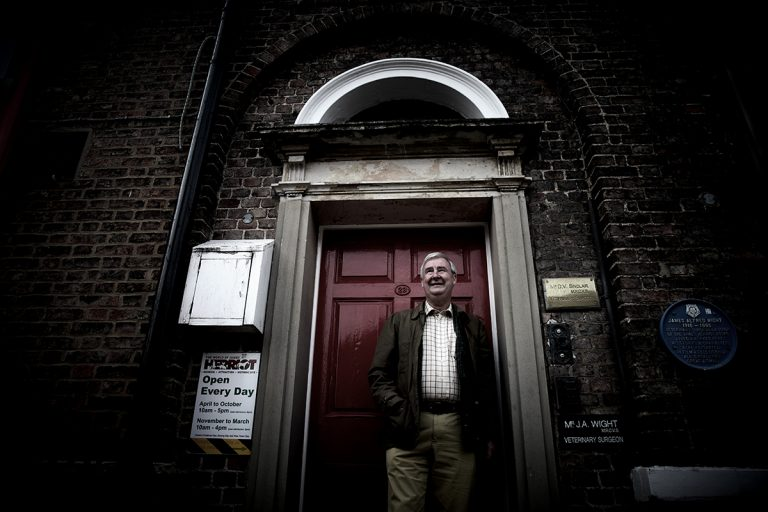Peter Wright / The Yorkshire Vet (photographed outside the former home and surgery of James Herriot)