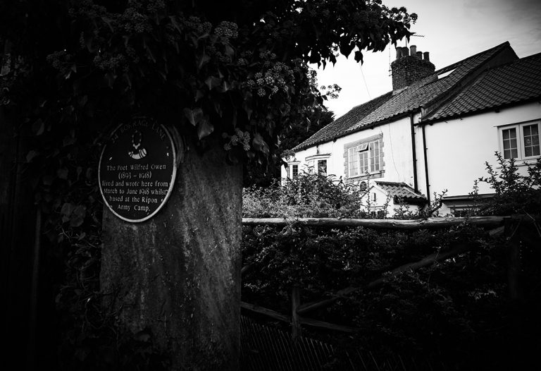 The cottage where Wilfred Owen stayed and wrote whilst based at Ripon Army Camp